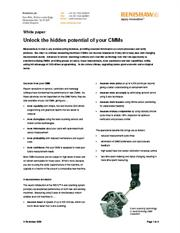 White paper:  White paper:  Unlock the hidden potential of your CMMs