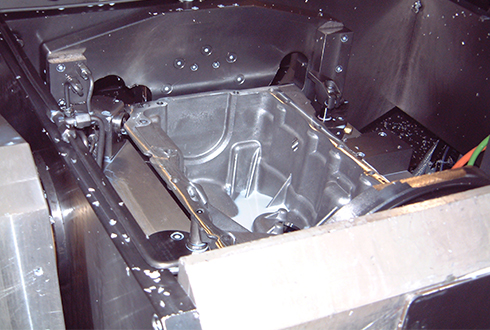 The production of oil pans for internal combustion engines