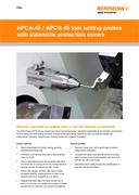Flyer:  APCA-45/ APCS-45 tool setting probes with automatic protection cover