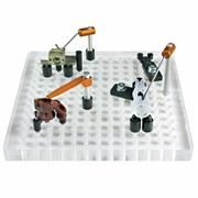 Fixturing example on a multi-hole vision plate