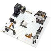 Fixturing example on a multi-hole acrylic plate