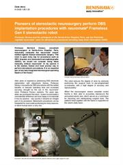 Case story: Pioneers of stereotactic neurosurgery perform DBS implantation procedures with neuromate® robot
